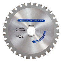 136MM TCT METAL CUTTING BLADE 30 TEETH 20MM ARBOR REPLACES PANASONIC EY9PM13C