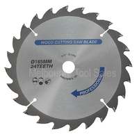 TCT WOOD SAW BLADE 165 mm X 5/8 X 24T SUITS MAKITA 18V BSS611 AND MANY MORE