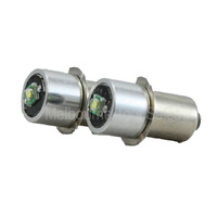 2 X L.E.D. 18V TORCH GLOBES 260 LUMENS SUITABLE FOR MAKITA, DEWALT, HITACHI AND OTHER BRANDS