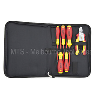 WIHA 33969 6 PCE VDE SCREWDRIVER SET WITH VDE SIDE CUTTER IN A ZIP CASE