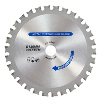 Tct Metal Cutting Saw Blade 136mm X 30t Fits Certain Makita Models