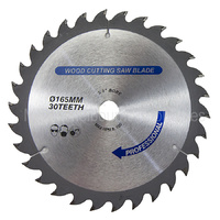 165mm Circular Saw Blade 30T 5/8 Arbor for Cordless Saws TCT 1mm Kerf
