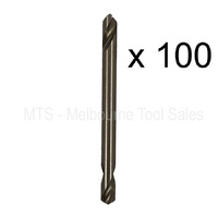 "100 X 1/8"" 3mm No 30 Double Ended Drill Bits 5% Cobalt M35 Hss Metal Twist Rivet"