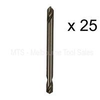 "25 X 3/16"" 5mm No 11 Double Ended Drill Bits 5% Cobalt M35 Hss Metal Twist Rivet"