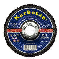 Flap Disc 125 X 22 930430 Karbosan - For Metal And Stainless Steel