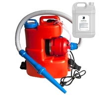 240V 20L Ulv Fogger Fogging Machine Sprayer Back Pack 10 - 150 Microns With Zoono Z71