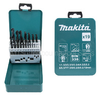 Metric 19 Piece HSS-R Metal Steel Drill Bit Set Makita D-54081