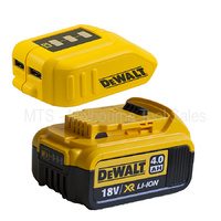 DEWALT DCB090 12V - 18V / 20V USB POWER SOURCE CHARGER WITH 4.0AH BATTERY