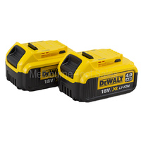 DEWALT DCB182 x 2 18V 4.0Ah LI-ION XR BATTERIES WITH FUEL GAUGE