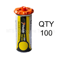 100 x Paslode Short Fuel Cell Yellow - for Fixers and Finish Nail Guns