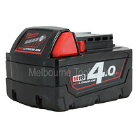 Milwaukee 18v 4.0ah Red Lith - Ion Battery M18b4