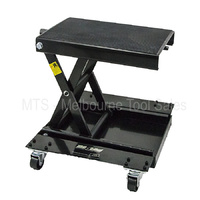 Motow - Motorcycle Motorbike Scissor Lift Stand Jack Hoist with Dolly - 525KG Capacity