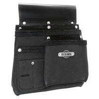 Buckaroo NBS1B 3 Pocket Leather Carpenters Nail Bag
