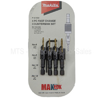 Makita P-51954 4 Piece Fast Change Countersink Set