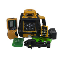 Green Beam Rotary Laser Level Kit With Detector And Remote Control