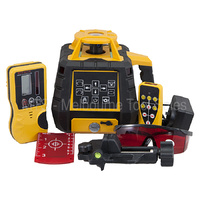 Red Beam Rotary Laser Level Kit With Detector And Remote Control