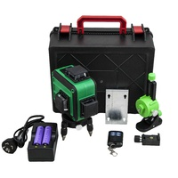 Green Laser Level 3D 3 x 360 Degree Lines Laser Level with Remote Control