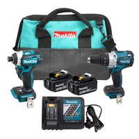 Makita 18V Brushless Cordless 2 Pce Drill and Driver Combo Kit XT268T