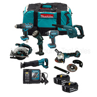 MAKITA 18V CORDLESS COMBO KIT 7 PCE WITH 4.0AH BATTERIES - KIT CAN BE MODIFIED