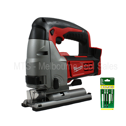 Milwaukee 2645-20 / HD18JS-0 M18 Cordless 18v Lithium Ion Jig Saw With Bonus Pack Of 5 Blades