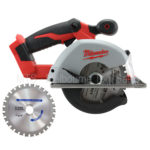 "Milwaukee 2682-20 18v M18 Cordless Lithium Ion 5 3/8"" Metal Cutting Circular Saw Bonus TCT Blade Included"