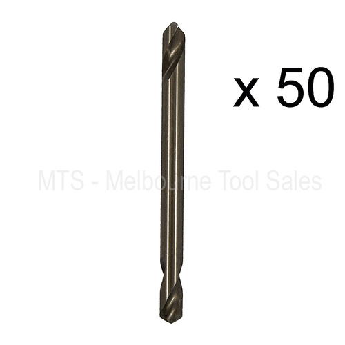 "50 X 5/32"" 4mm No 20 Double Ended Drill Bits 5% Cobalt M35 Hss Metal Twist Rivet"
