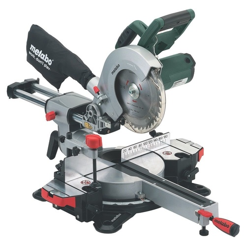 "METABO KGS 216 M 216mm 1500W 8 1/2"" SLIDING COMPOUND CROSSCUT & MITRE SAW"